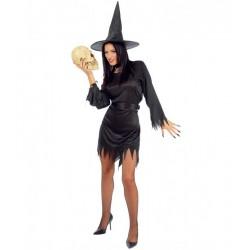 Disfraz de Bruja Negra.Talla unica