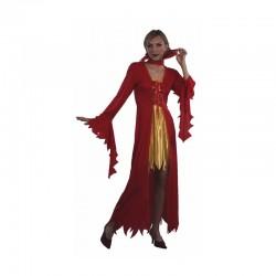 Disfraz de Vampiresa de las Llamas.Talla unica.Halloween