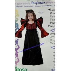 Disfraz Vampiresa,Talla 3-4-Halloween