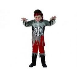 Disfraz de Pirata Esquelético. Talla 10-12-Halloween