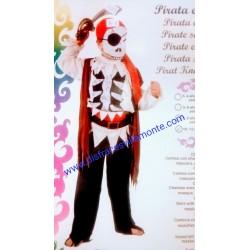 Disfraz Pirata esquelético,talla 10-12-Halloween.