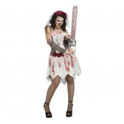 Disfraz Novia Despechada o Novia cadáver,talla S..Halloween
