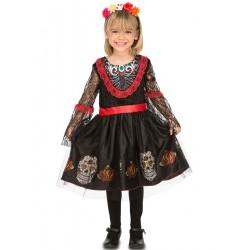 Disfraz Catrina o Señorita dia de los muertos,tall 5-6...Halloween