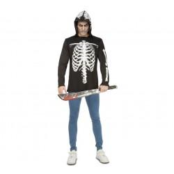 Camiseta o Disfraz de Esqueleto Casual ,talla XS...Halloween