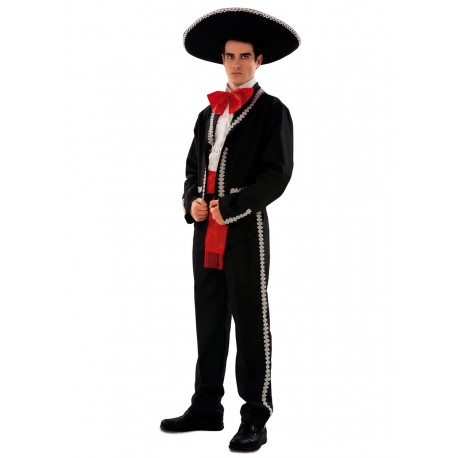Disfraz de Mejicano o Mariachi negro,talla XL...