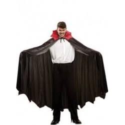 Capa negra con cuello de Vampiro Murciélago Deluxe,Unisex para adultos