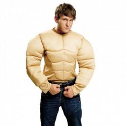 Camiseta Super   Musculoso,color carne.Talla M