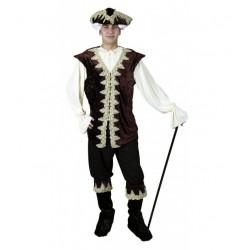 Disfraz Época o Pirata de Lujo,Marrón