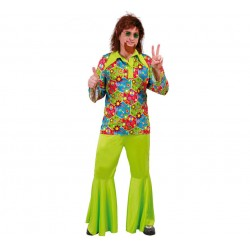Disfraz Hippie Flower Power...talla M