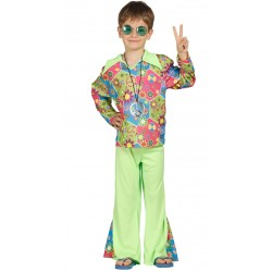 Disfraz Hippie Flower Power,talla 10-12