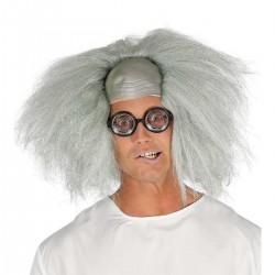 Peluca calva con pelo, químico Einstein con pelo o Profesor Chiflado-Loco