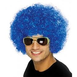 Peluca Afro Unisex, Azul