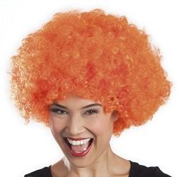 Peluca Afro Unisex, Naranja