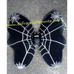 Alas de araña negras con plata.38 x35 cm