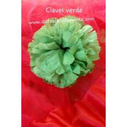 Flor-Clavel doble Verde.. Sevillana-Cordobesa-Andaluza..