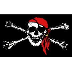 Bandera Pirata de tela..