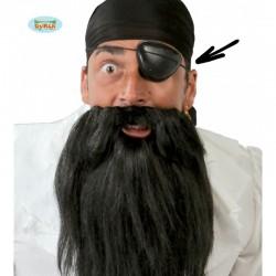 Parche pirata de tela con calavera.