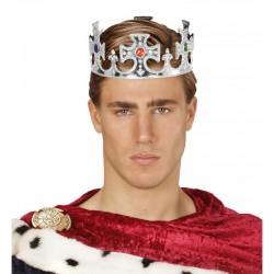 Corona de Rey-Reina plata