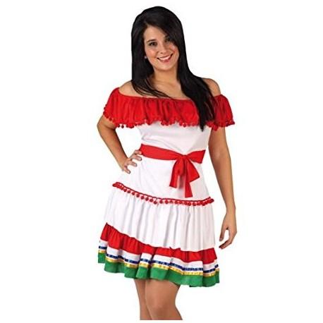 Disfraz Mejicana,talla M-L