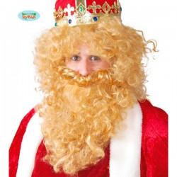Barba y Peluca Rey rubio