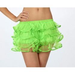 Tutu Falda de volantes,neón..Color Verde