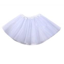 Tutu o Falda blanca,de  30 cm largo