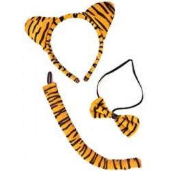 Set de animales Tigre. Orejas,cola y pajarita