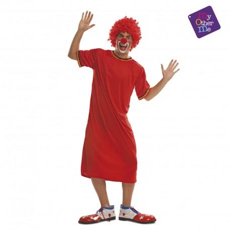 Disfraz Payaso/a rojo..Gaby Fofó y Miliki, talla:M/L