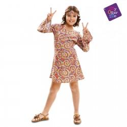 Disfraz Hippie Psicodelica,talla 7-9