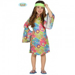 Disfraz Hippie Flower Power,talla 5-6