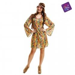 Disfarz Happy Hippie Chica ,talla  XL años 60