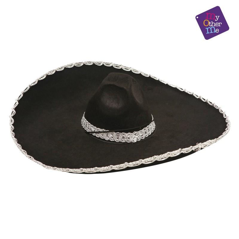 c8680d97361b7 Sombrero mejicano o mariachi color negro loading zoom jpg 800x800 Sombrero  de charro negro