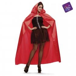 Capa roja brillante con capucha,unisex-Halloween o Carnaval