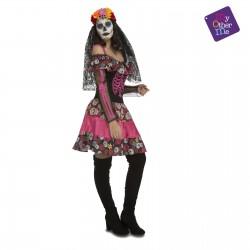 Disfraz Dia de los muertos,Catrina-Halloween-Talla S
