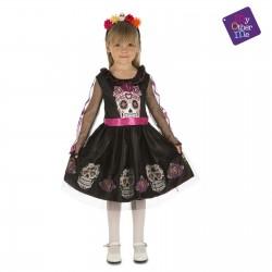 Disfraz Calaverita o Catrina,talla 5-6 .-Halloween