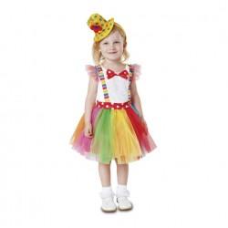 Disfraz Payasita Tutu-Payasa-Circo,talla 1-2 años