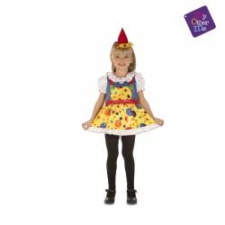 Disfraz Payasita lunares-Payasa-Circo,talla 5-6 años