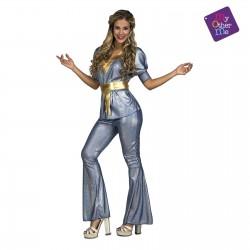 Disfraz Disco Silver -Años 60-Años 70..talla M-L