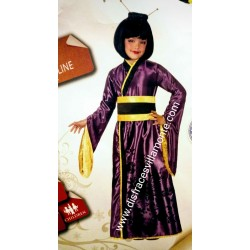 Disfraz de Japonesa o Geisha. Talla 10-12