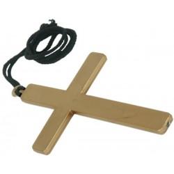 Cruz de monje,cura,monja,obispo , color dorada