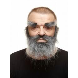 Barba  con cejas jaspeada gris..Olentzero