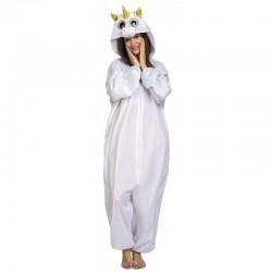 Disfraz de Unicornio pijama Blanco Ojazos ,talla S animal