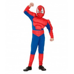 Spiderman musculoso,.talla 7-9