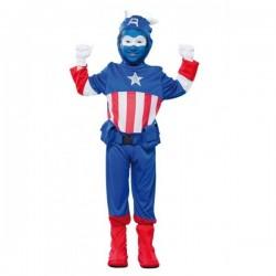 Disfraz de Capitán Azul-Capitán América .Talla 10-12
