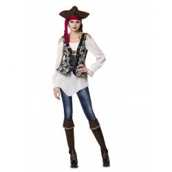 Disfraz de Señorita Pirata,Corsaria o Bucanera,talla S Adolescente