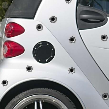 Pegatinas -Stickers de tiros,Artículos de broma