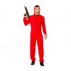 Disfraz o Mono rojo de Fumigador, Exterminador, Atracador o Ladrón para   talla 48 -Unisex